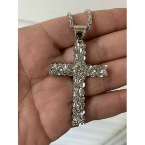 Harlembling  925 Sterling Silver Crucifix Chain